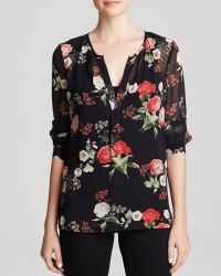 Joie Blouse - Maurelle Floral Printed Silk - Lyst