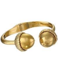 Alexander McQueen Gold Acorn Bracelet - Lyst
