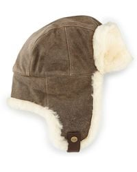 Ugg Shearling Trapper Hat - Lyst