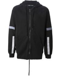 Damir Doma Striped Panel Hoodie - Lyst