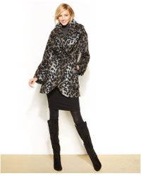 Tahari Marla Shawlcollar Wrap Coat - Lyst