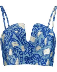 Opening Ceremony | Jacquard Bustier | Lyst
