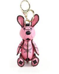 MCM Signature Rabbit Charm pink - Lyst