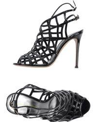 Gianvito Rossi Black Sandals - Lyst