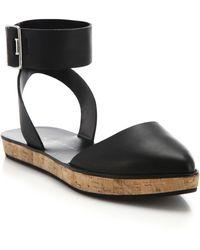 Alice + Olivia Reese Cork-Platform Leather Sandals - Lyst