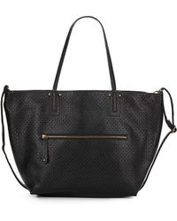Saks Fifth Avenue - Perforated Faux Leather Tote & Crossbody Set - Lyst