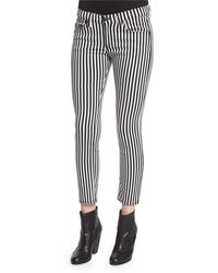 Rag & Bone   Bengal Striped Capri Jeans   Lyst