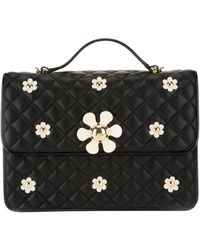 Moschino Cheap & Chic Quilted Floral Detail Shoulder Bag - Lyst