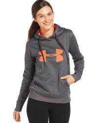 Under Armour Logo Hoodie Sweatshirt - Lyst