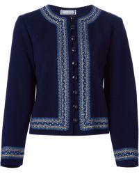 Yves Saint Laurent Vintage Embroidered Cardigan - Lyst