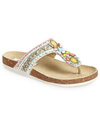 Steve Madden 'Fiessta' Embellished Thong Sandal - Lyst