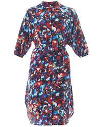 Saloni Jessabel Floral-Print Silk Dress - Lyst