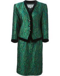 Yves Saint Laurent Vintage Jacquard Skirt Suit - Lyst
