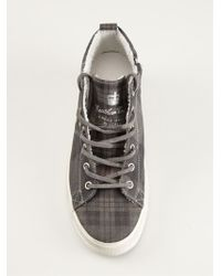 Leather Crown Check Pattern Sneakers - Lyst