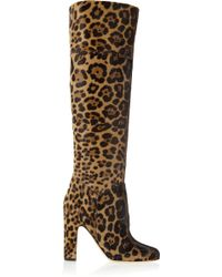 Brian Atwood - Renee Leopard-print Calf Hair Knee Boots - Lyst