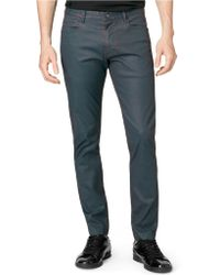 Calvin Klein Two Tone Carbon Coated Pants - Lyst