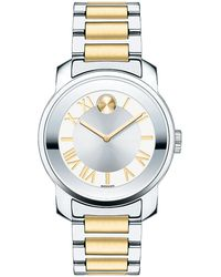 Movado Bold Luxe Two-Tone Stainless Steel Bracelet Watch/32Mm - Lyst