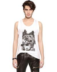 Diesel Wolf Print Cotton Jersey Tank Top - Lyst