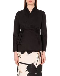 Marni Wrap-Front Cotton And Linen-Blend Jacket - For Women - Lyst