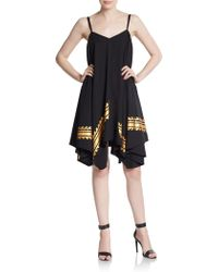 Sachin & Babi Fearless Metallic-Trim Tent Dress black - Lyst
