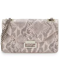Ivanka Trump - Sophia Snake-Embossed Faux Leather Shoulder Bag - Lyst