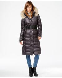 Rudsak - Coyote-fur-trim Leather-trim Maxi Puffer Coat - Lyst