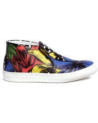 Pierre Hardy Cube Lily Print Canvas Slip-Ons - Lyst