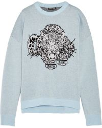 Baja East - Double-faced Intarsia Cashmere Sweater - Lyst