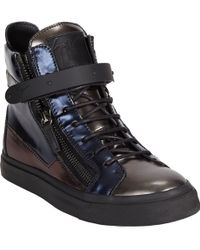 Giuseppe Zanotti Platedstrap Doublezip Sneakers - Lyst
