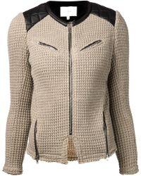 Iro Beige Knitted Ceylona Jacket - Lyst