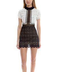 Self-Portrait | Felicia Lace Mix Dress | Lyst