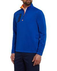 Ralph Lauren Golf - Plain Half Zip Pocket Jumper - Lyst