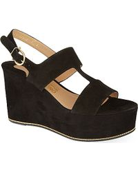 Ferragamo Fiamma Wedge Sandals - For Women - Lyst