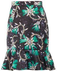 Mary Katrantzou Genero Sequin And Chain-Print Skirt - Lyst