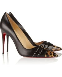 Christian Louboutin Front Double 100 Leather Pumps - Lyst