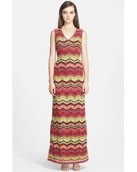 M Missoni Women'S Zigzag Maxi Dress - Lyst