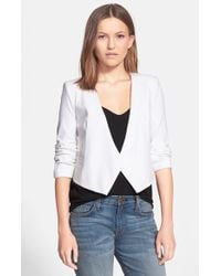 Milly Stretch Woven Jacket - Lyst