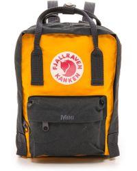 Fjallraven Kanken Mini Backpack  Navywarm Yellow - Lyst