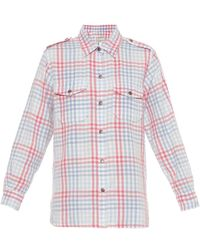 Current/Elliott The Perfect Plaid Cotton Shirt - Lyst