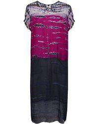 Raquel Allegra Silk Tie Dye Dress - Lyst