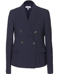 Mulberry Doublebreasted Crepe Blazer - Lyst