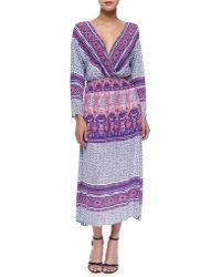 Free People Three-Quarter-Sleeve Midi Dress - Lyst