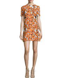 A.L.C. Nora Floral-Print Silk Dress - Lyst