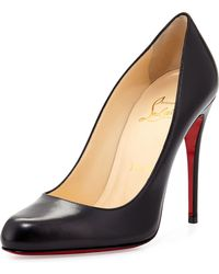 Christian Louboutin Decollette Leather Red Sole Pump - Lyst