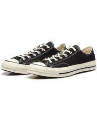 Converse Chuck Taylor Ox Black Sneakers black - Lyst