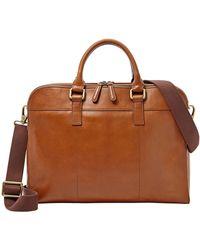 Fossil Mercer Leather Workbag - Lyst