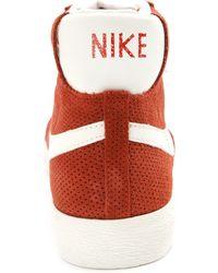 Nike Blazer Mid Orange Sneakers - Lyst