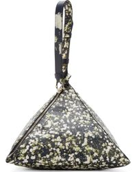 Givenchy Black Babybreath Large Triangle Bag floral - Lyst