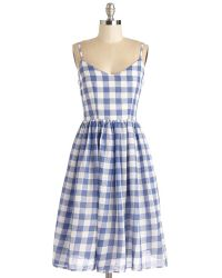 Alythea Check Date Dress - Lyst