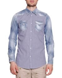 DSquared2 Denim  Gingham Western Shirt - Lyst